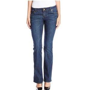 KFTK Dk Wash Denim Farrah Baby Boot Cut Jeans sz 8